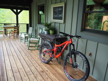 Mountain Bike on the porch
