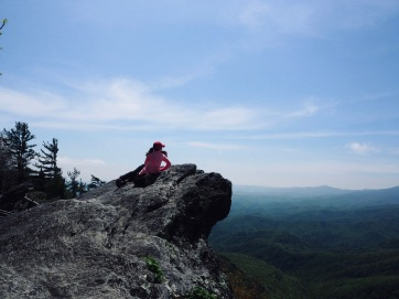 Kids on top of Blowing Rock